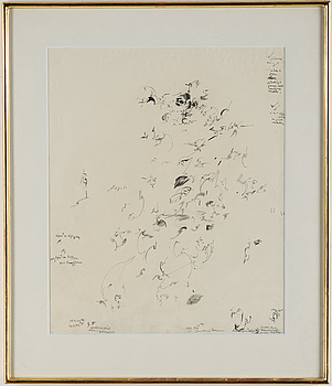 GUN MARIA PETTERSSON, pencil, signed and dated 17/2 -70.