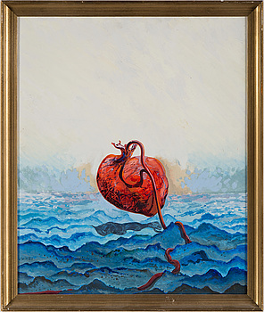 FOLKE LIND, oil on panel, signed and dated -70 verso.