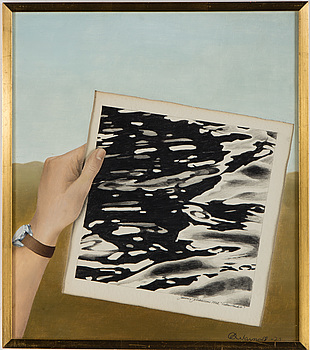 BERTIL WARNOLF, collage, signerad och daterad -72.