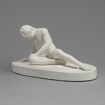 FIGUR, parian, Gustafsberg 1891.