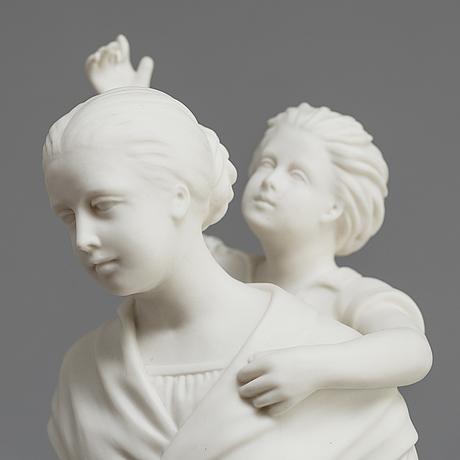 Two parian figures, gustafsberg ca 1900