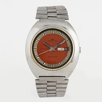 FORTIS, Spaceleader, armbandsur, 40 x 40 (43) mm,