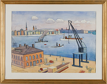 EINAR JOLIN, EINAR JOLIN, gouache and watercolour on paper, signed Einar Jolin and dated 1939.