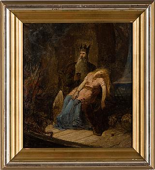 MÅRTEN ESKIL WINGE, oil on paper-panel, signed M.E. Winge.