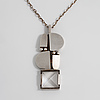 Jorma laine, a faceted rock crystal pendant, made in Åbo, 1973