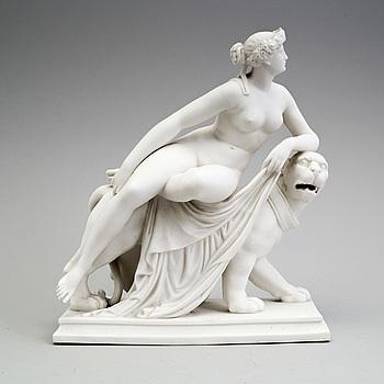 GUSTAVSBERG, A parian sculpture 'Ariadne' from Gustafsberg, 1890.