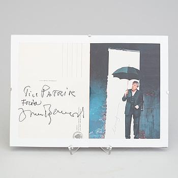 AUTOGRAF, Ingmar Bergman samt Erland Josephson.