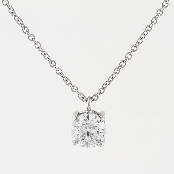 HÄNGE, med briljantslipad diamant 0.90 ct.