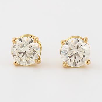 ÖRHÄNGEN, med briljantslipade diamanter, totalt ca 1.20 ct.