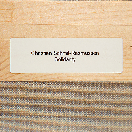 Christian schmidt-rasmussen, acrylic on canvas, signed an dated 2003 on verso.