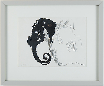 NINO LONGOBARDI, mixed media, signed and dated 1993.