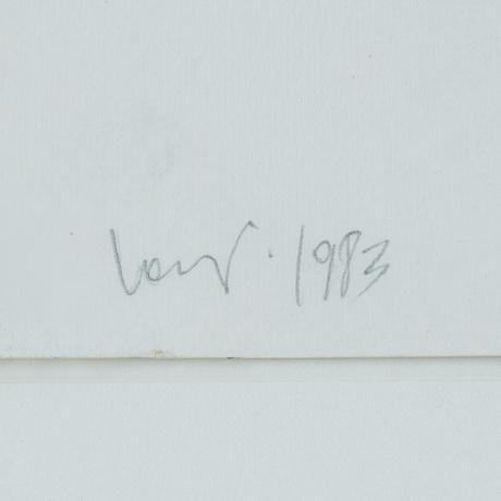 Nino longobardi, mixed media, signed and dated 1993.