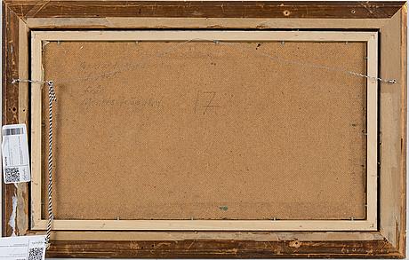 Gerhard nordström, oil on panel, signed.