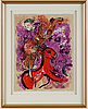 Marc chagall, after, 1957. a lithographic poster
