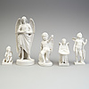 Five parian figures, gustafsberg, early 20th century