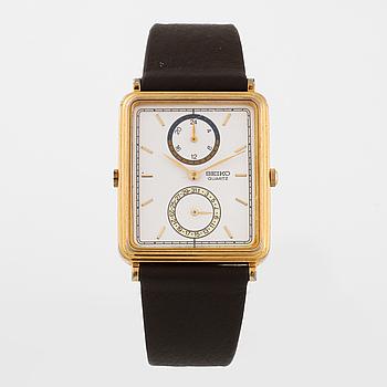 """SEIKO, """"Dual-Time"""", armbandsur, 29 x 33 (39) mm."""