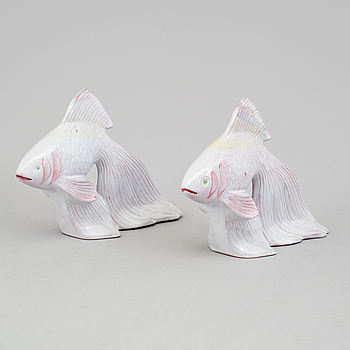 MICHAEL SCHILKIN, figuriner, ett par, lergods, Arabia.