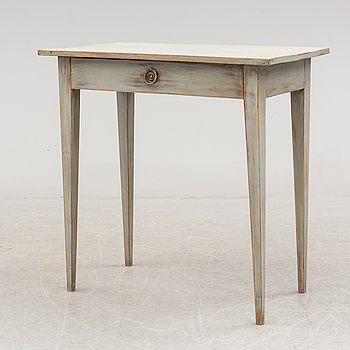 A 19th century painted table.