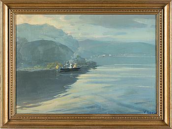 VASILI LEVI, olja på pannå, signerad V. Levi.