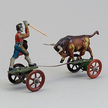 GEBRÜDER EINFALT, matador med tjur, Tyskland, ca 1925-1930.