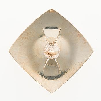 ELIS KAUPPI, A ELIS KAUPPI BROOCH, rutile quartz, silver. Kupittaan Kulta, Turku Finland 1961.