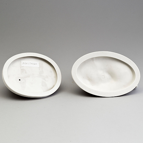 Two parian groups, gustafsberg and rörstrand, early 20th century