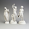 Three parian figures, gustafsberg, ca 1900