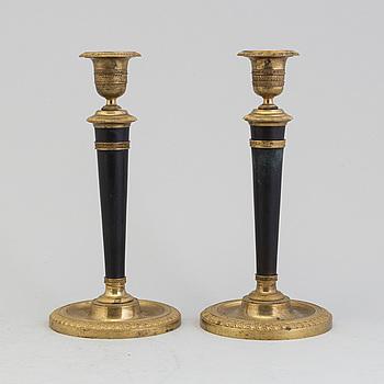 LJUSSTAKAR, ett par, empire, Frankrike, 1800-talets början.