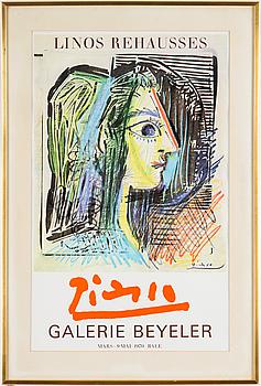 PABLO PICASSO, utställningsaffisch, 1970.
