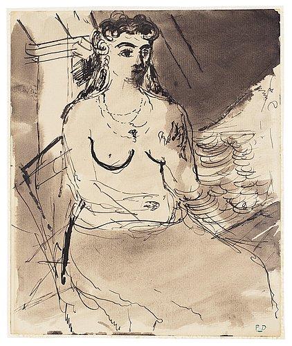 """Paul delvaux, """"femme assise""""."""