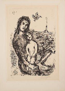 388. MARC CHAGALL, litografi, 1969, signerad med blyerts och numrerad 26/40.