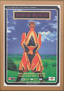 AFFISCH, David Bowie Mölleplatsen, Malmö, 1997.