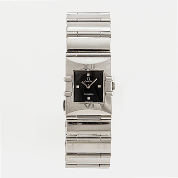 OMEGA, Constellation Quadra, armbandsur, 19,5 x 24 mm,