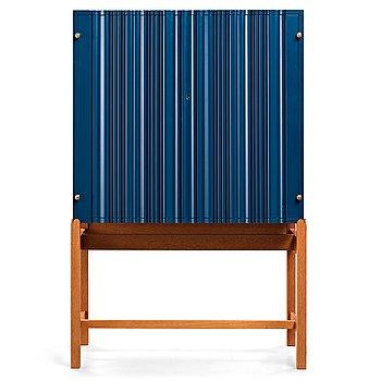 141. Josef Frank, a blue lacquered cabinet on stand, model nr 2192, by Svenskt Tenn, Sweden.