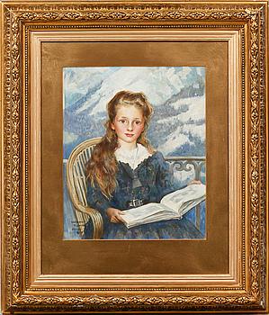 CLEMENT FLOWER, akvarell, signerad och daterad Davos 1910.