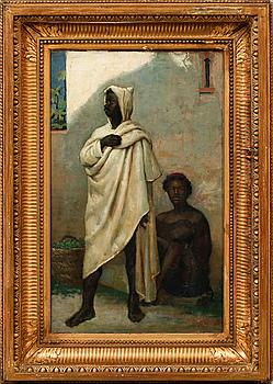 OIDENTIFIERAD KONSTNÄR, olja på canvas, signerad Ludovic Mouchot, daterad -76 (1876).