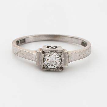 RING, med briljantslipad diamant, 0.20 ct, Ceson, Göteborg, 1971.
