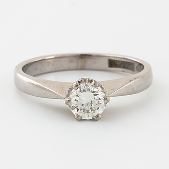 RING, med briljantslipad diamant 0.42 ct, Ceson, Göteborg, 1975.