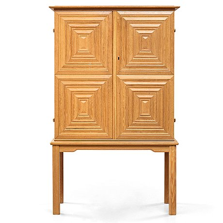 Oscar nilsson, attributed to, a swedish modern oak cabinet, 1940's.