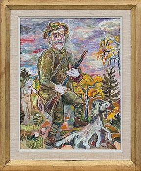 OLLE NORDBERG, olja på pannå, signerad och daterad -53,
