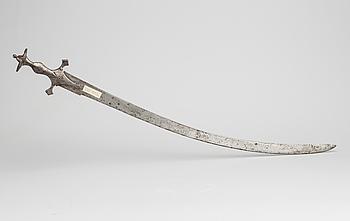 TULWAR, stål, orientalisk, 1700/1800-tal.