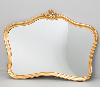 A ROKOKO STYLE MIRROR, 20th century latter part.