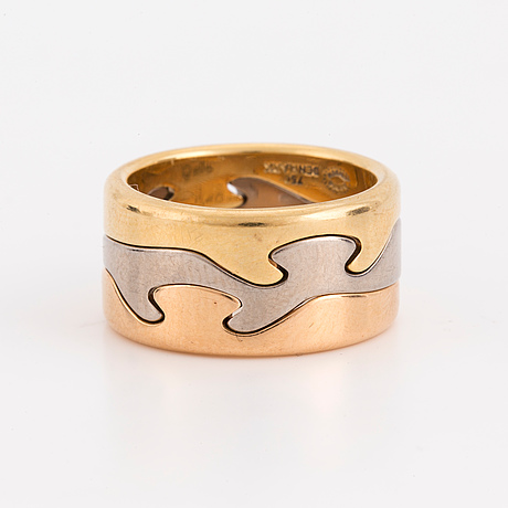 A three part 'fusion' ring by nina koppel for georg jensen.