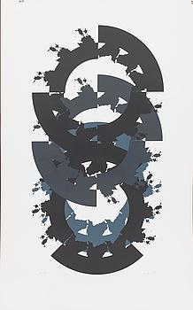 RAUL MEEL, färgserigrafi, signerad och numrerad 31/50, daterad '89.