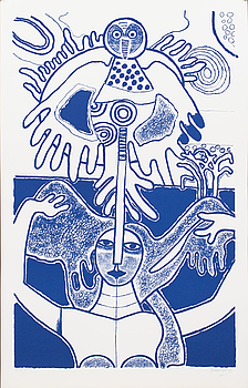 BEVERLOO CORNEILLE, BEVERLOO CORNEILLE, litograph in colour, signed, numbered XLVI/L and dated '85,