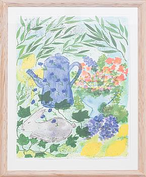 LENA LINDERHOLM, litografi, signerad.