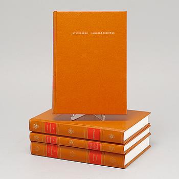 """AUGUST STRINDBERG, 55 volymer, """"Stindberg Samlade Skrifter"""", Albert Bonniers Förlag, Stockholm, 1987."""