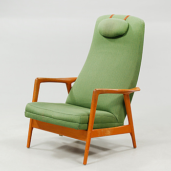 A lounge chair by Alf Svensson for Dux, 1960s.