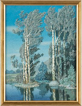 OSKAR BERGMAN, akvarell. Signerad och daterad 1911.