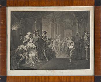 GRAVYRER, ett par, efter H. Fuseli, 1800-tal.
